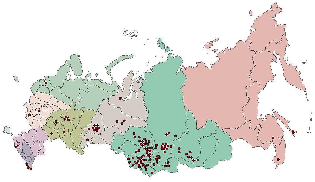 Карта клиентов компании «ТомскЭлектро»